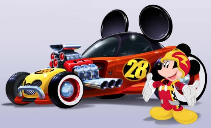 Musse Pigg i en helt ny TV-serie fylld med bilar och racing