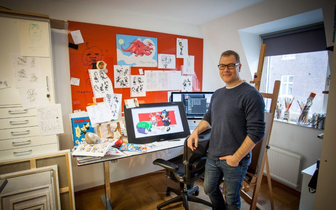 Han blir Sveriges nya Kalle Anka-tecknare