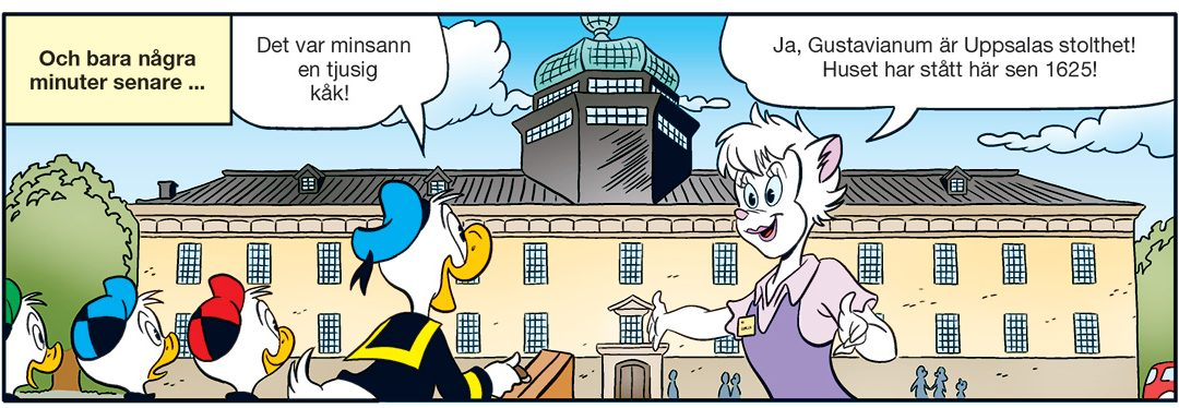 Kalle Anka på upptåg i Uppsala