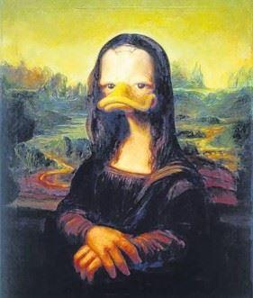 Kalle Anka som Måna-Lisa