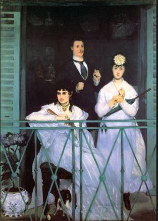 Originalet: Manet, The Balcony, 1868, Musée d'Orsay, Paris.