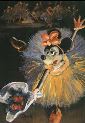 Mimmi dyker upp i en målning av Degas.