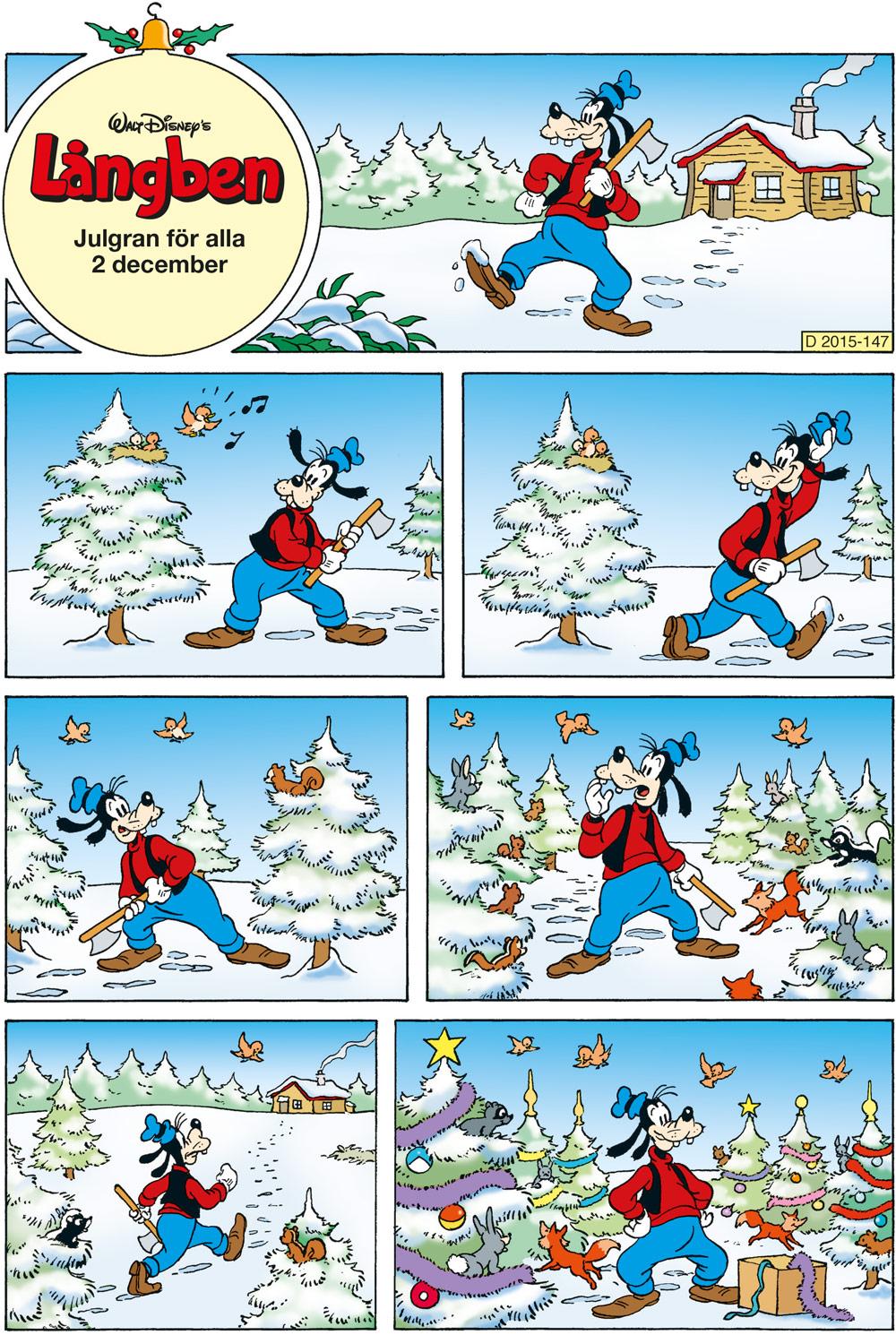 Långben julgran