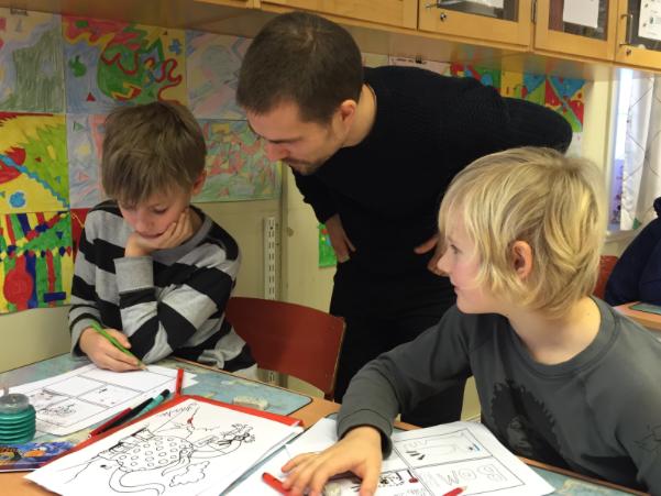 Bamse, Kalle Anka och serieskapande på Örbyskolan